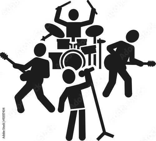 quotrock band pictogramquot stock image and royaltyfree vector