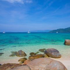 Wall Murals Turquoise Rocks , sea and blue sky - Lipe island Thailand