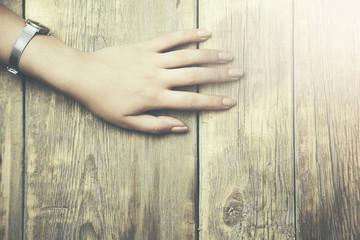 empty female hands