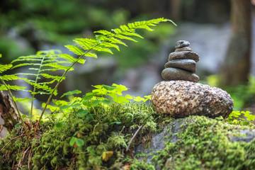 Steinmännchen im Wald