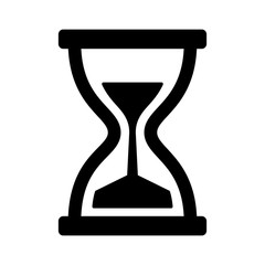 Vintage hourglass / sandglass timer or clock flat icon for apps and websites