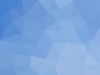 Deep ocean - beautiful blue marine abstract mosaic polygonal background