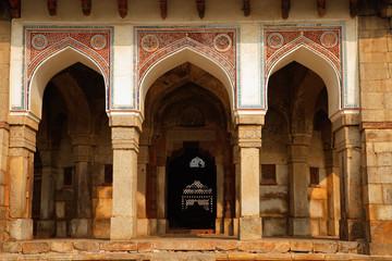 Ali Isa Khan tomb at the Humayuns tomb complex in Delhi, India .