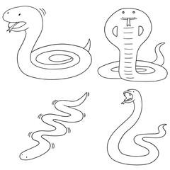 vector set of snake