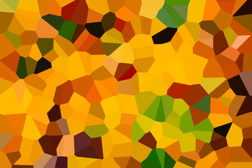 abstract decorative mosaic background texture yellow, green, orange color