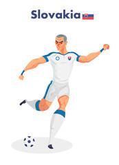 Slovakia nationality footballer, Vector illustration