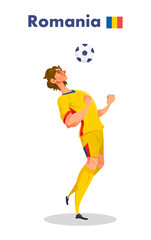 Romania nationality footballer, Vector illustration