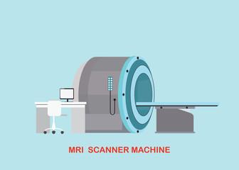 MRI scanner machine technology and diagnostics.
