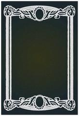Vintage antique frame :  Black board