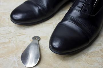 Black mans shoes