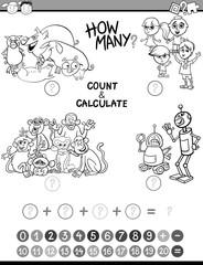 math kids avtivity coloring page