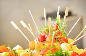Fingerfood Melonenspieße
