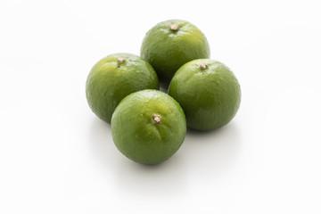 isolated green lemon