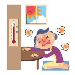エアコンを使わない老人