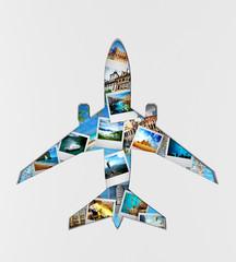Travel the world monument concept.  3d illustration