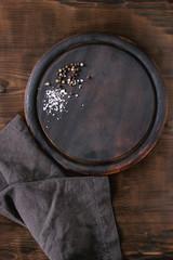 Chopping board with seasoning