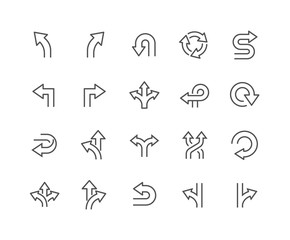 Line Direction Icons