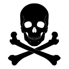 silhouette skull and crossbones