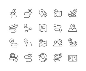 Line Route Icons