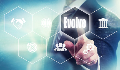 Business Evolve Concept