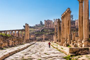 Ruins of Jerash, ancient Roman town in Jordan