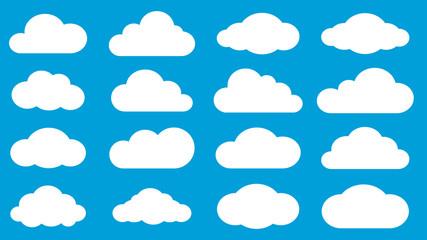Fototapeta Set of clouds obraz