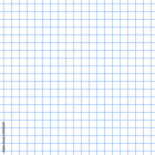 Abstract Seamless Vector Background School Notebook White Sheet Blue Squared Pattern Similar
