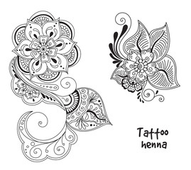 tattoo henna element