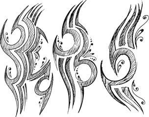 Tattoo Sketch Doodle Vector Illustration Art