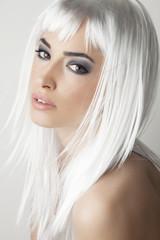 beautiful platinum blonde