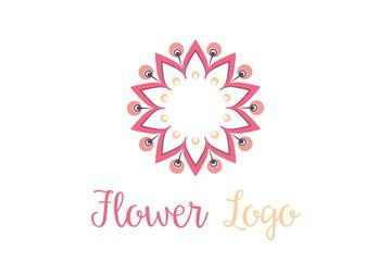 Flower Logo - Vector Ornamental Flower