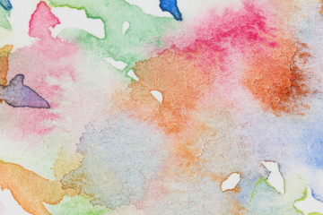 abstract colorful watercolor illustration