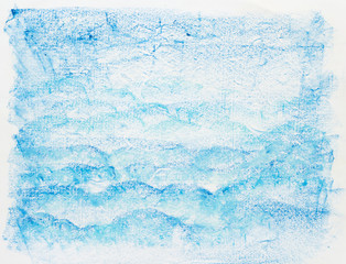 hand draw blue crayon painted texture background