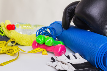 Healthy lifestyle, fitness equipment