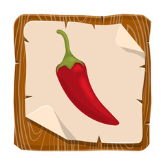 Chili pepper colorful icon