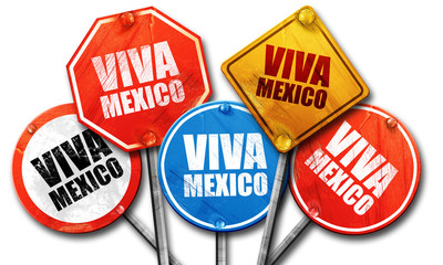Viva mexico, 3D rendering, street signs