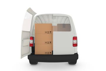 Transporter mit Kartons