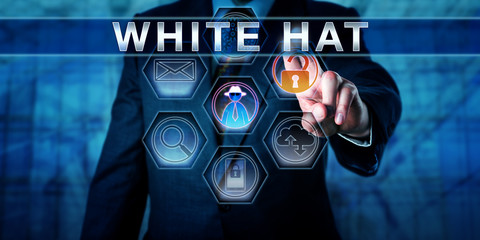 Business Manager Pushing WHITE HAT