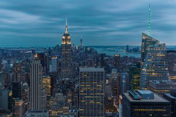 Anochece en Manhattan