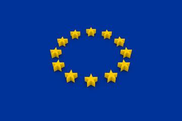 Europäische Flagge 3d rendering