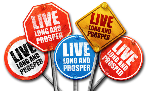 live long and prosper, 3D rendering, street signs