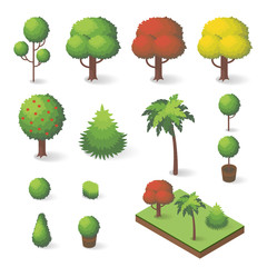 Vector set of isometric various trees