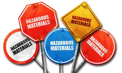 hazardous materials, 3D rendering, street signs