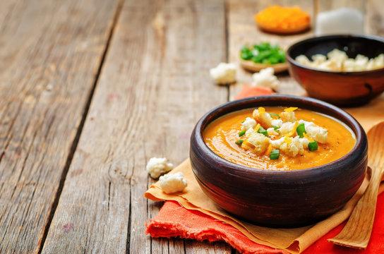 sweet potatoes cauliflower soup