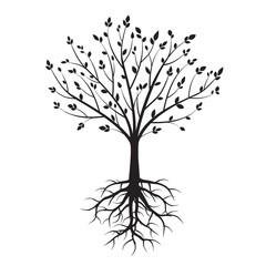 Shape of Black Trees. Vector Illustration.