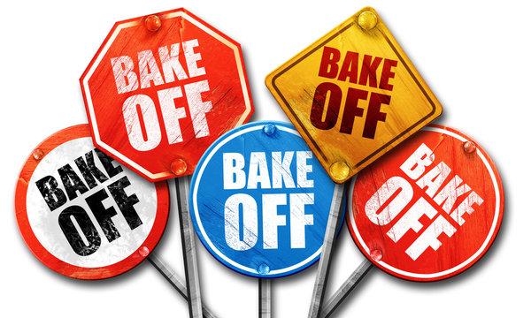 bake off, 3D rendering, street signs