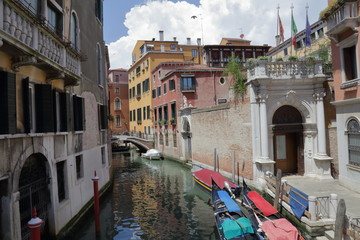 Ornate architecture of Venice - city on the water - the pearl of Italy