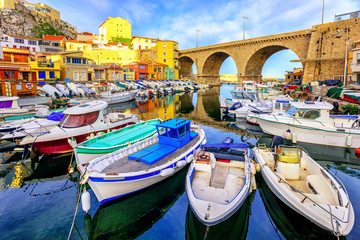Small fishing port, Marseilles, France