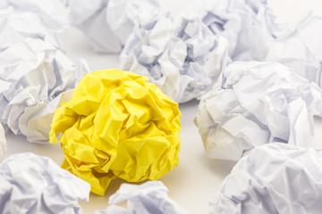 Crumpled paper sheets