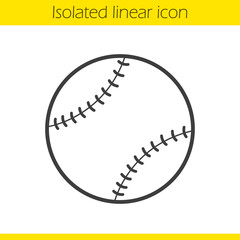Baseball ball linear icon